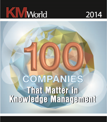 KMWorld 100 Companies That Matter in Knowledge