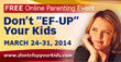 Don't EF UP Your Kids! To Debut Online Parenting Event