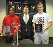 CFPA Executive Director Brad Smith with Vernon Adams and Cooper Kupp