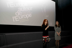 The screening is opened by the director of the festival