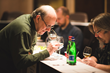 UBC Founder and Judging Chairman F. Paul Pacult and Dave Wondrich conferring at Ultimate Spirits Challenge 2014. PHOTO CREDIT: Daniel Krieger