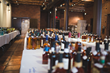 Bottles as far as the eye can see! Entries to Ultimate Spirits Challenge 2014. PHOTO CREDIT: Daniel Krieger