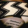 Craig Bachman Imports burlap chevron ribbon