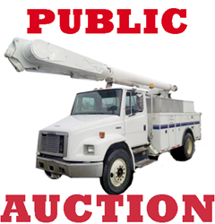 West Palm Beach, FL Public Auction, Selling used bucket trucks, forestry equipment and vehicles with no reserve