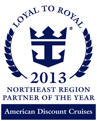 American Discount Cruises was named Royal Caribbean's 2013 Northeast Partner of the Year