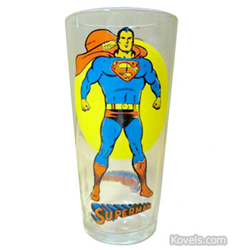 kovel, antiques, collectibles, superman, decorated glass, jelly glass, jam glass