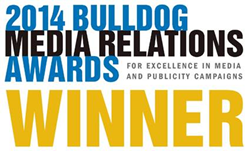 2014 Bulldog Award Winner for Excellence in Media Relations and Publicity