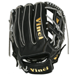 Vinci BRV-22 Baseball Glove Black and Gray Lace - Back View