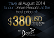 Desire Resorts Black Sale, Only This April 1st and 2nd