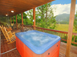 hot tub at Happy Bear cabin in Gatlinburg