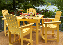 Adirondack Chair Dining Set - Manchester Wood