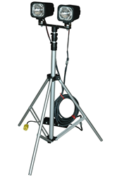 """Tripod Mounted HID Work Light that will be featured on the home improvement show """"Hometime"""" on CBS"""