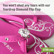 Girl Two Doors Down Offers 50% Off Teardrop Diamond Bling Flip Flops