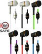 RF Safe Air Tube Headsets Are Available In Many Colors