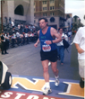 Author Nicholas San Martino, finishing the Boston Marathon.