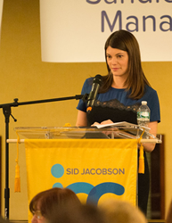 Gail Simmons leads Live Auction bidding at the Auction for Excellence, An Epicurean Event. Photo credit: Stephanie Faust