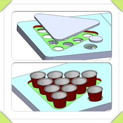 Playing Beer Pong with or without pre-drilled cup holes