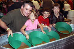 GPAA Gold & Treasure Show attendees learn to pan for real gold!