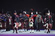 Massed pipe bands form a core part of the New York Tattoo