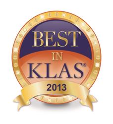KLAS Logo for Acusis Medical Transcription Company, Medical Transcription Services, escription editing.