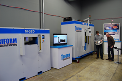 Beckwood's facility has 2 sheet hydroforming presses for demonstration purposes.