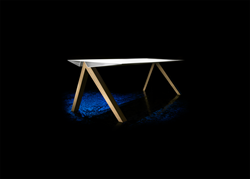 Custom made Tangle_One table, made with HI-MACS®