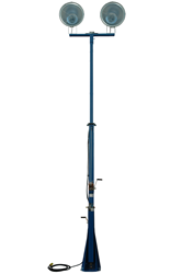 Ten to sixteen foot extendable light mast with 360° rotating capabilities