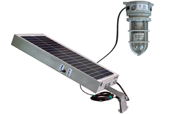 Explosion Proof LED Light Fixture Powered by Solar Panel