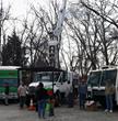 Giroud Tree and Lawn volunteers  Joe Hock, Matt Giroud and Taylor Klein showing kids the bucket truck at Glenside Library's Big Truck Day