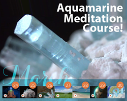 Celebrate March, the month of Aquamarine, with free guided meditations