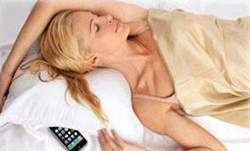 Don't sleep with your cell phone next to your pillow in bed