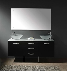 "James Martin Solid Wood 63"" Double Bathroom Vanity, Espresso 147-118-5731"