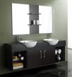"James Martin Solid Wood 67"" Double Sink Bathroom Vanity, Espresso 147-518-DA-5731"