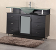 "Design Element Huntington 48"" Single Drop-In Sink Bathroom Vanity Set (DEC015C)"