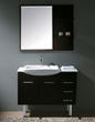 James Martin Solid Wood 38.75 Single Sink Bathroom Vanity with Legs Espresso 147-519-DB-5131