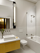 White and Yellow Bathroom Remodel