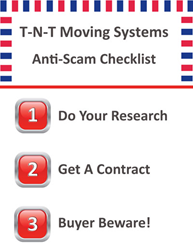 Moving Scam Checklist by T-N-T Moving Systems