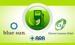 Blue Sun Energy, ARA Inc. and Chevron Lummus Global logos