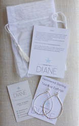 Hammered Sterling Silver Teardrop Hoop Earrings from Designs by Diane