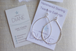 Hammered Sterling Silver Teardrop Hoop Earrings by Designs by Diane