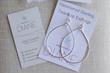 Hammered Sterling Silver Teardrop Hoop Earrings by Designs by Diane