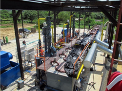pyrolysis plant in South America