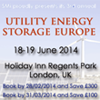 Bloomberg New Energy Finance to speak at the 3rd annual Utility Energy Storage Europe, London, June 2014