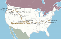 TransAmerican Trail Map