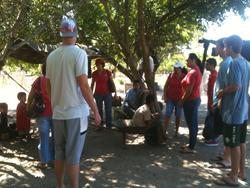 Giving Back: B2B residents deliver food goods to local families on the outskirts of Ixtapa-Zihuatanejo.