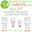 LED Lighting Clearance Sale Begins at LEDWaves.com
