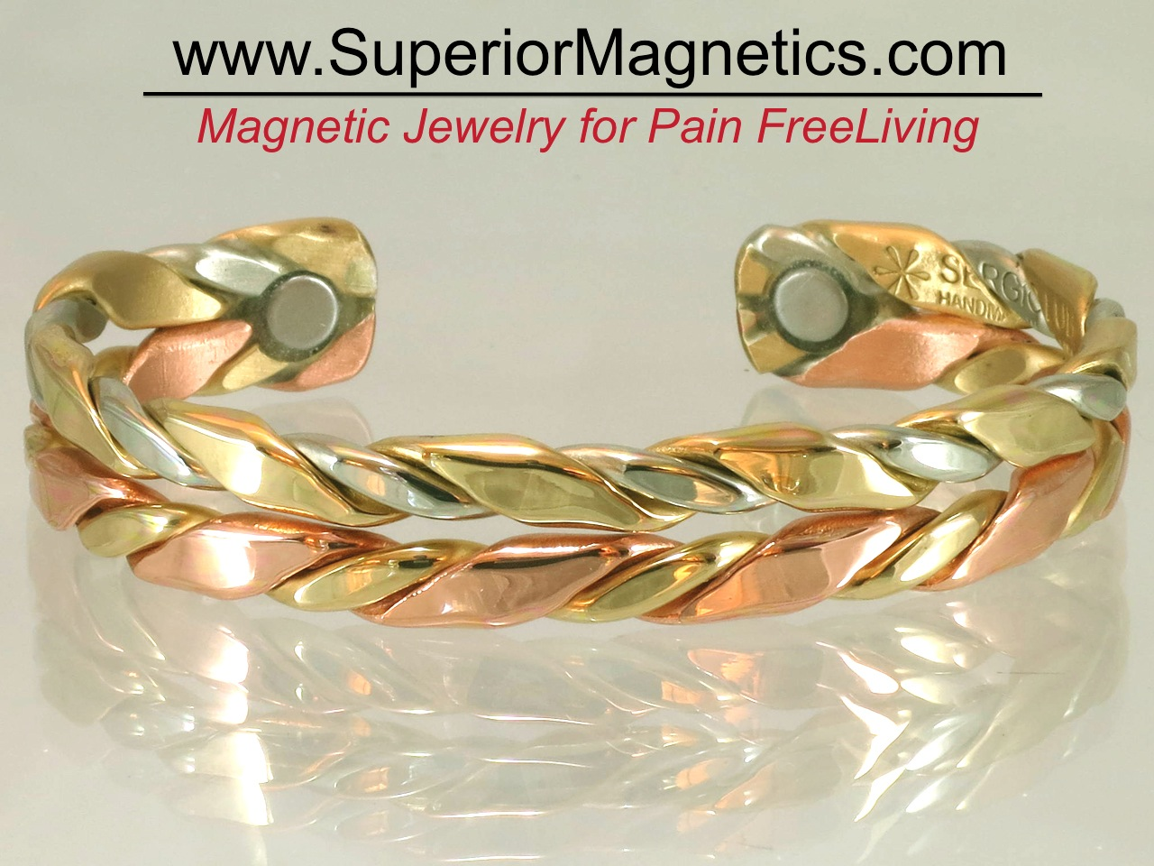 New Magnetic Copper Bracelet For Pain Relief By Pain Free