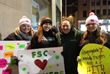 Farmingdale State NATM signs at The Today Show plaza 2.28.14