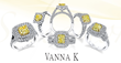 Vanna K Introduces New Line of Engagement Rings Featuring Canary...
