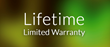 GloFX Lifetime Limited Warranty